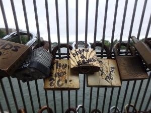 Love Lock on the Passerelle de Solférino