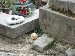 Jim Morrison's Grave with my flower